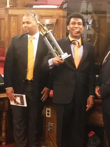 Student recognized in Oratorical Scholarship Competition
