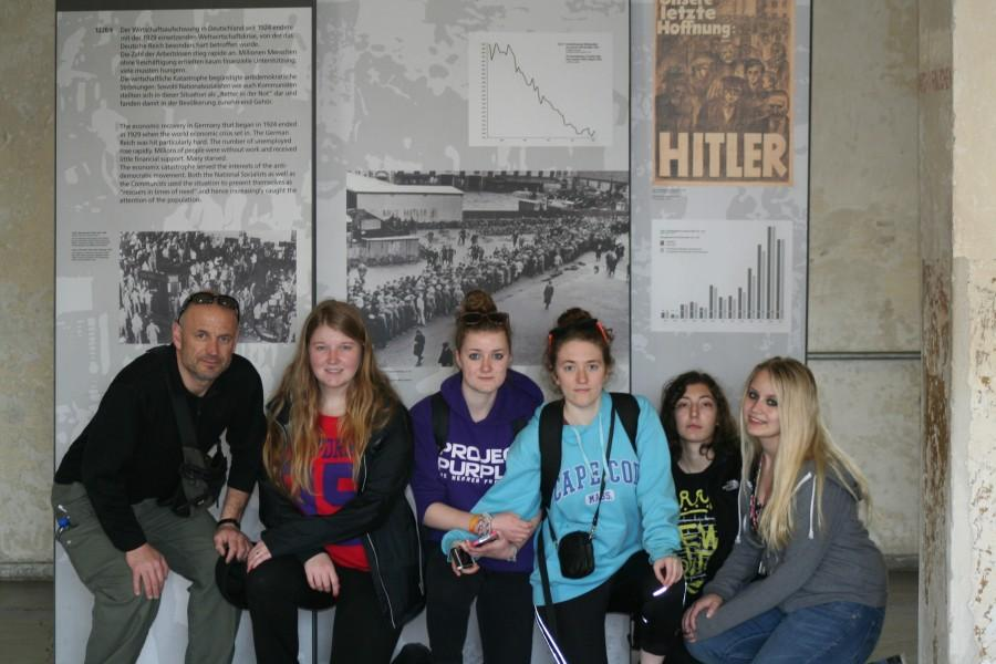 Mr. Franco with his students at a concentration camp exhibit in Europe.