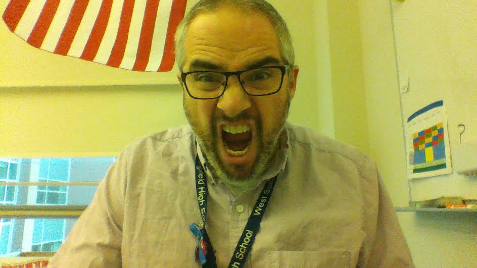 Freshman English teacher Mr. Brown