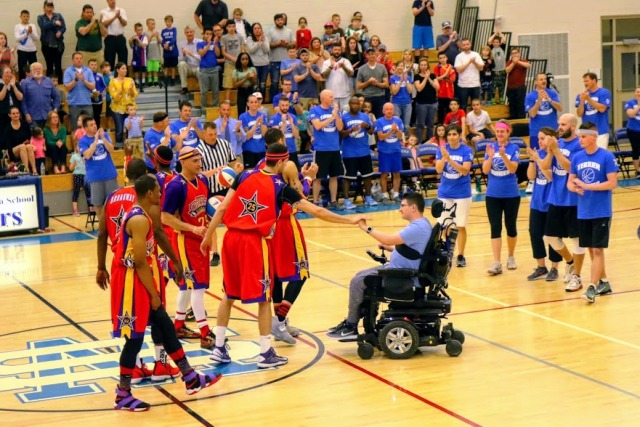 The Harlem Wizards took on the Terrier Thunder in a charity event for the West Side lacrosse program and the recovery of WSHS student Conor McCormick.