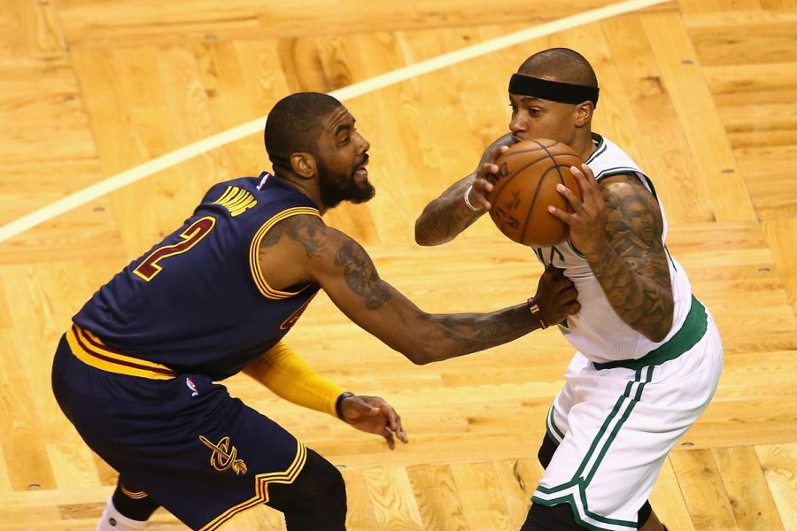 Isaiah+Thomas+ans+Kyrie+Irving+were+known+to+be+the+trade+talk+of+the+summer.