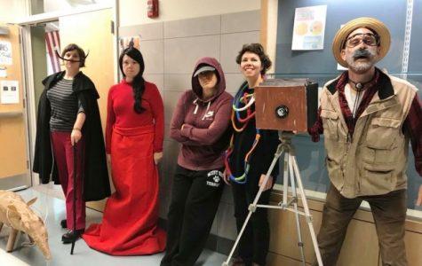 Art Teachers Display Halloween Spirit