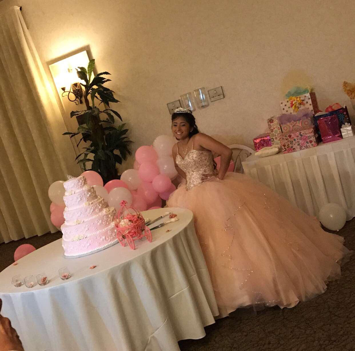 Amy Marquez at her quinceañera.