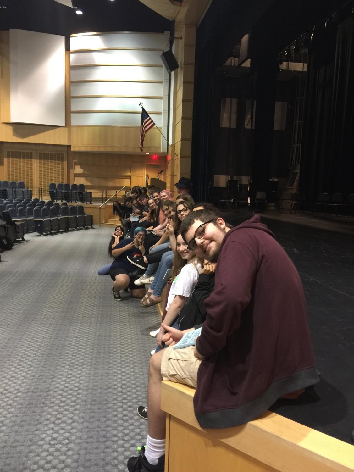 Cast and crew of You Cant Take it With You prepare for their December performance
