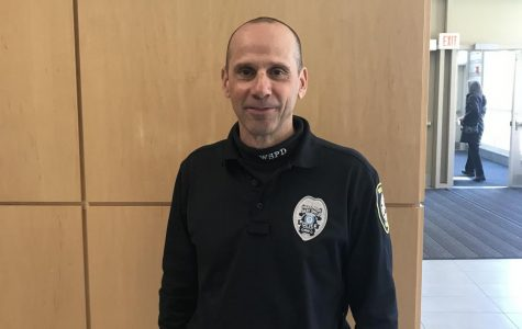 (Photographer Molly Kennedy) Officer Mattina  returns to the hallways of West Side after 12 years.