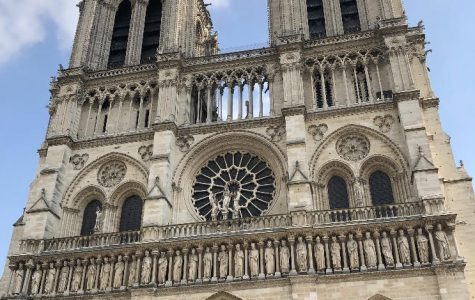 Students attended church and saw the Notre Dame, two days prior to the fire in Paris, France.