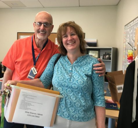 Mr. Scanlon and Ms. Valinski, two of the teachers set to retire at the end of this year.