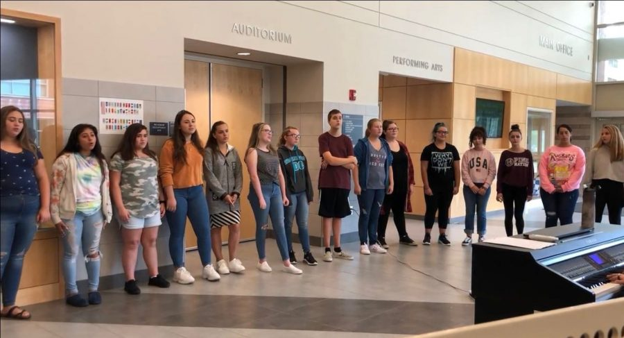 This September, students in chorus performed at all three lunches