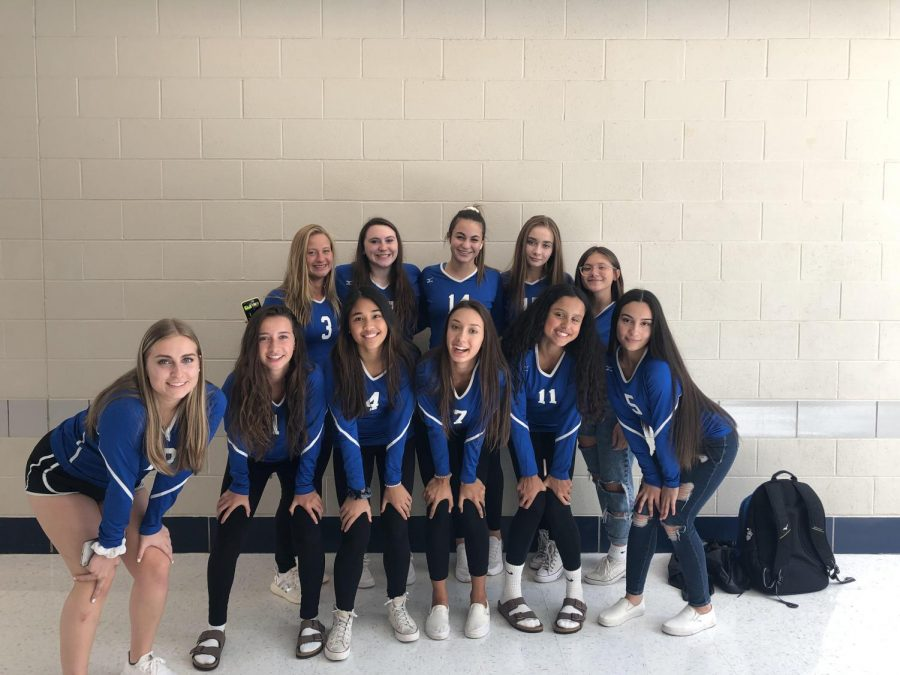 Girls+volleyball+on+game+day+before+their+game+against+Chicopee+Comp.+