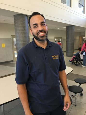 Onix Cruz, head custodian at WSHS,  wants students to respect their school.