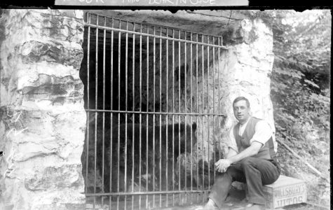 Photo courtesy of http://www.wsenvironmentalcommittee.org/history-photos.html The Bear Hole Resort where they held the three-legged bear.