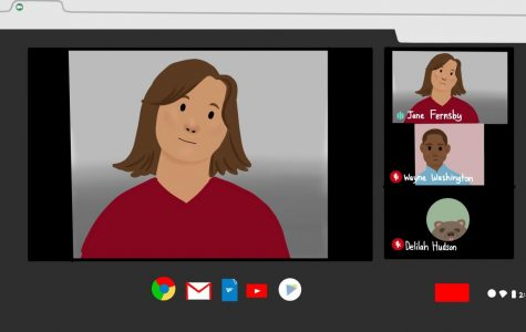 Remote learning included meeting virtually in many classes as a way for teachers to provide instruction or review assignments and expectations.