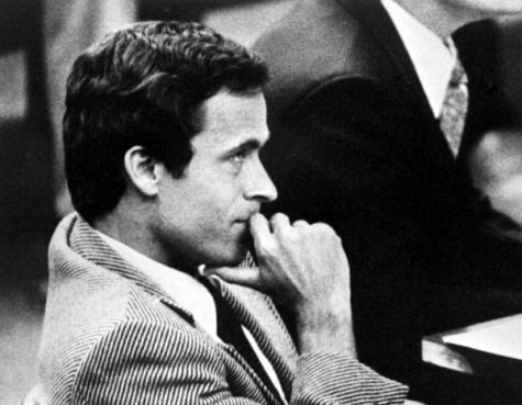 Ted Bundy, an infamous serial killer from the 90s representing himself in court.