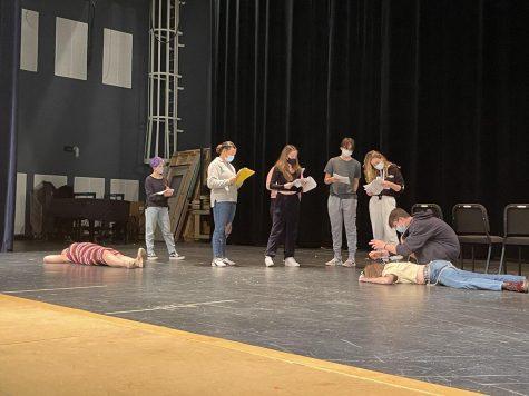 drama club preparing for their first production
